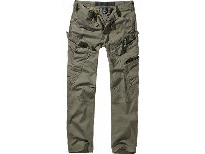 Adven slim fit kalhoty Brandit olivové