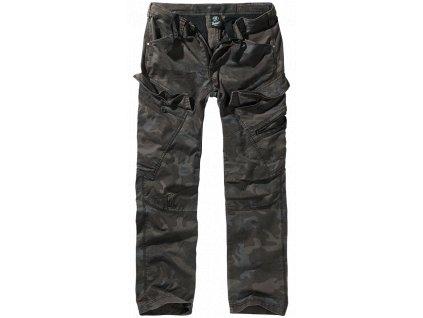 Adven slim fit kalhoty Brandit tmavá kamufláž