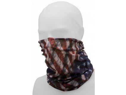 Multifunkční šátek Brandit americká vlajka