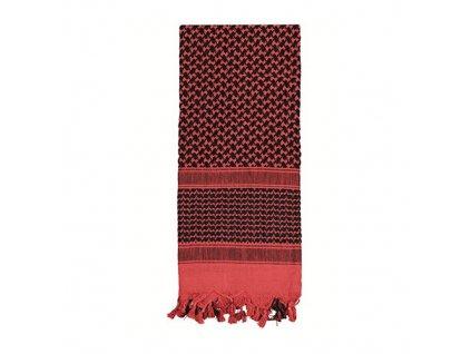 Šátek SHEMAGH 105 x 105 cm ČERVENO-ČERNÝ
