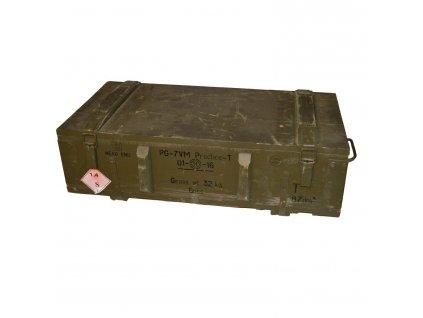 Bedna dřevěná od munice PG 7 použitá