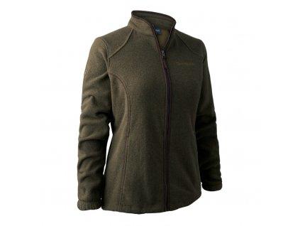 Dámská fleecová bunda Deerhunter Lady Josephine zelenohnědá
