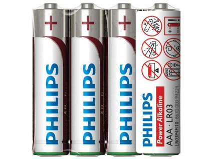 Alkalické baterie Philips AAA Power Alkaline