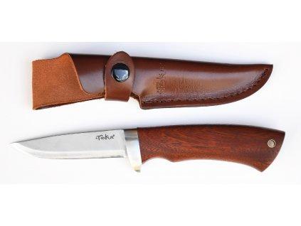 Lovecký nůž, rukojeť tropické dřevo Cocobolo 9 cm