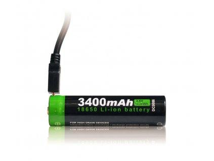 Nabíjecí Li-Ion baterie NT18650 s USB