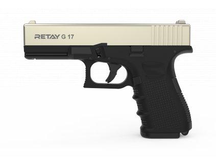 Plynová pistole Retay G 17 9 mm P.A.K. - satén