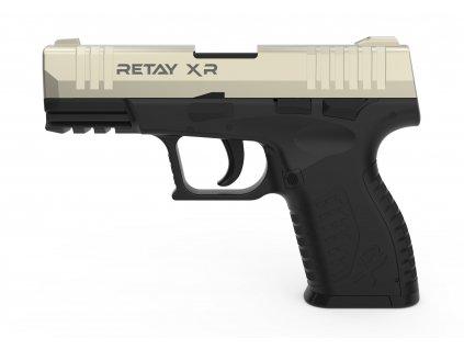 Plynová pistole Retay XR 9 mm P.A.K. - satén