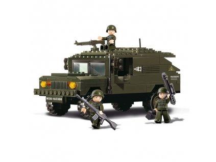 Stavebnice HUMMER se třemi vojáky