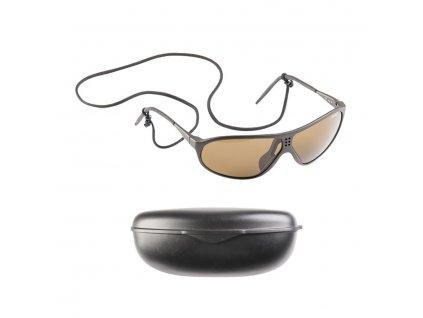 Brýle sluneční švýcarské SUVASOL s plastovým pouzdrem