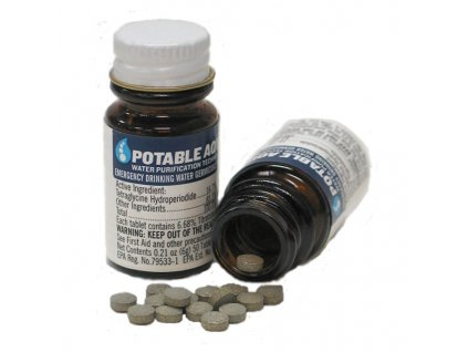 ablety pro čištění vody US Potable Aqua 50 tablet v balení