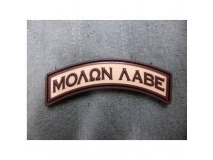 Nášivka oblouček MOLON LABE velcro plast DESERT