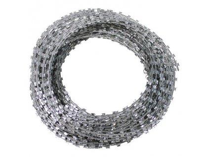 Drát žiletkový 50m / kruh 30cm pozinkovaný