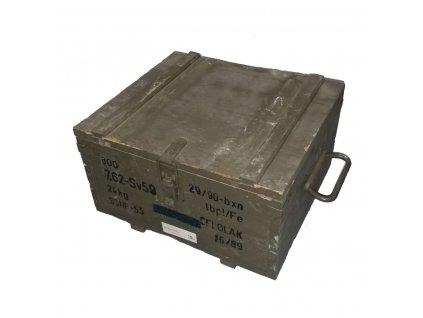 Bedna dřevěná od munice AČR 35 x 31 x 18 cm