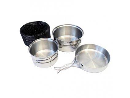 Jídelní nádobí třídílné nerezové TRAPPER