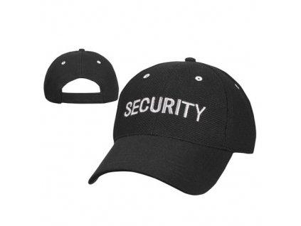 "Čepice baseball stříbrný nápis ""SECURITY"" ČERNÁ"