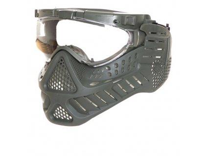 Maska ochranná PAINTBALL LED ZELENÁ