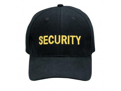 "Čepice baseball žlutý nápis ""SECURITY"" ČERNÁ"