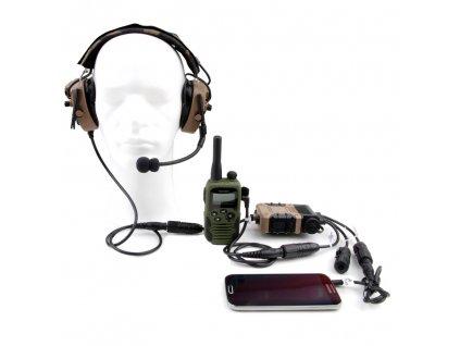 Komunikační set Topcom - 2x sluchátka - 2x Z124