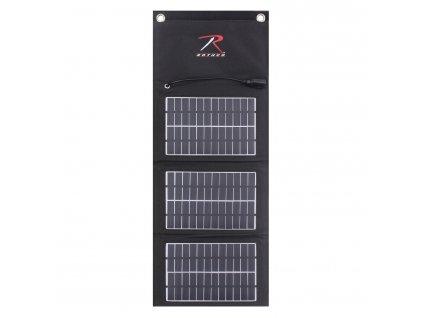 Nabíječka solární USB skládací MOLLE ČERNÁ