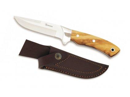 Lovecký nůž, rukojeť olivové dřevo