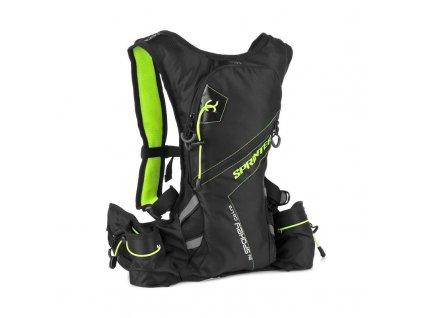 Spokey SPRINTER - Sportovní, cyklistický a běžecký batoh 5 l, zeleno/černý, voděodolný