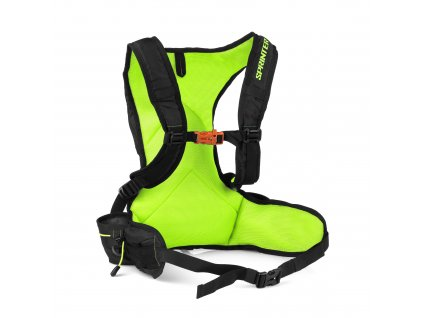 Spokey SPRINTER - Cyklistický a běžecký batoh 5l zeleno/černý, voděodolný