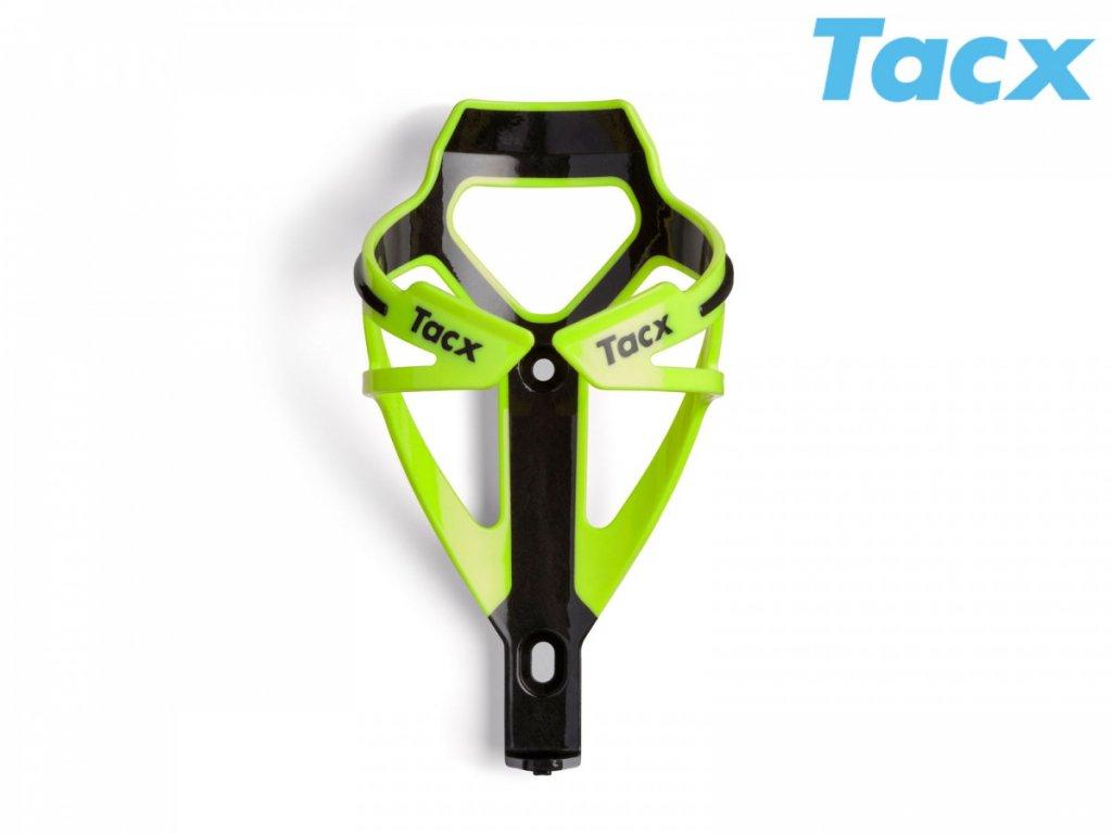 Košík TACX Deva zelená-neonová/karbon