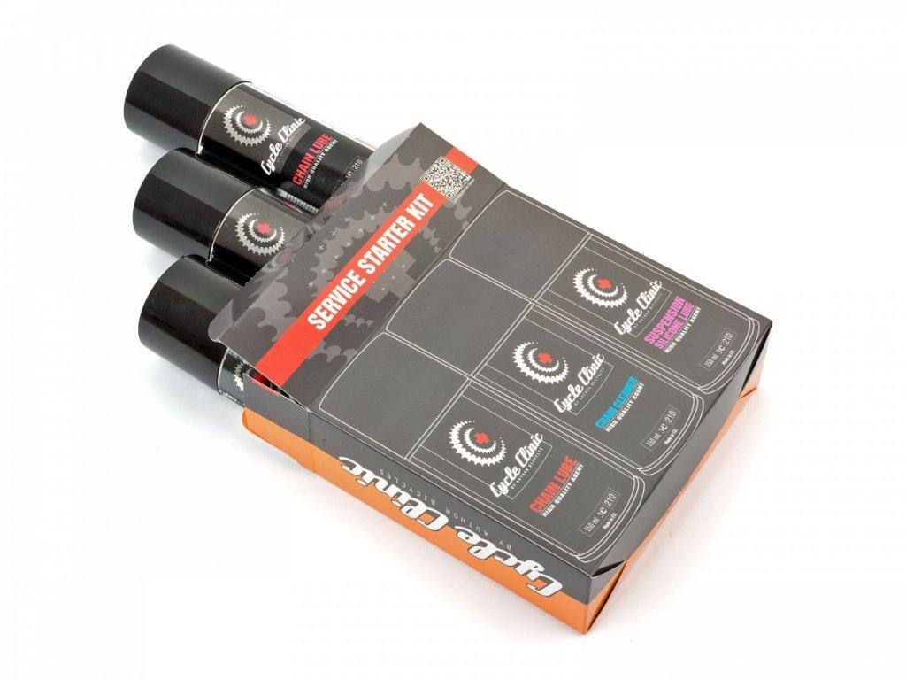 Sada Cycle Clinic Service Starter Kit 3x 150 ml černá