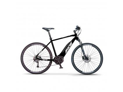 Elektrokolo krosové Apache Matto Bosch Performance black  + Cyklistické světlo INFINI Olley set PŘEDNÍ + ZADNÍ USB