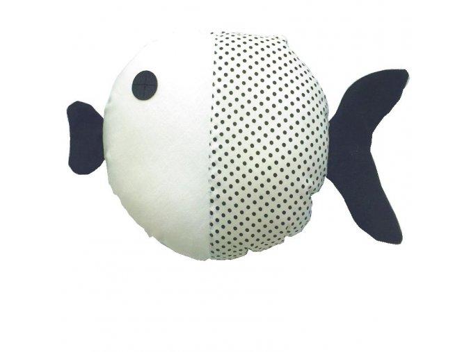 RYBA BÍLA ČERNÉ TEČKY