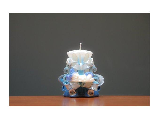 batch 10cm svíce s mimi modrá