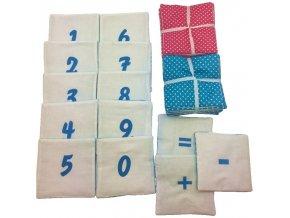 Látkové čtverce s čísly