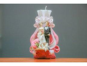 batch 20cm svatební s figurkou a prstýnky