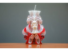 batch 15cm s andílkem volitelná barva svíčky