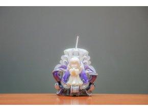 batch 10cm s andílkem volitelná barva svíčky