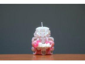 batch 10cm svíce s mimi růžová