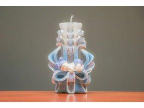 batch 15cm svíce s mimi modrá