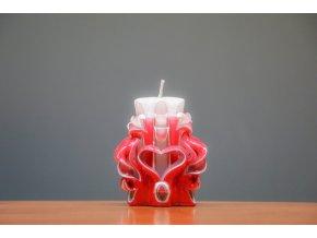 Svíce Valentýn 10 cm - s jedním srdcem