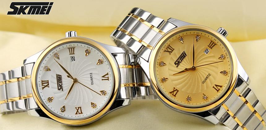 Elegantní pánské hodinky Skmei osazené kamínky