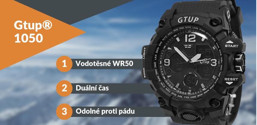 Kupte si extra odolné hodinky Gtup 1050 s fukncí Shock Resist