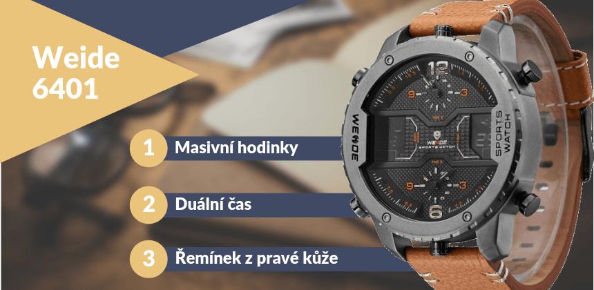 Kupte luxusní hodinky Weide 6401 v masivním stylu