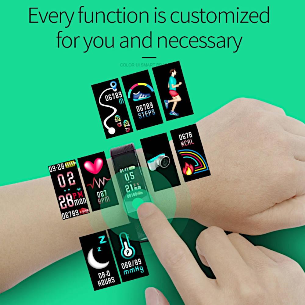 chytrý-náramek-hodinky-na-ruku-B30-detail