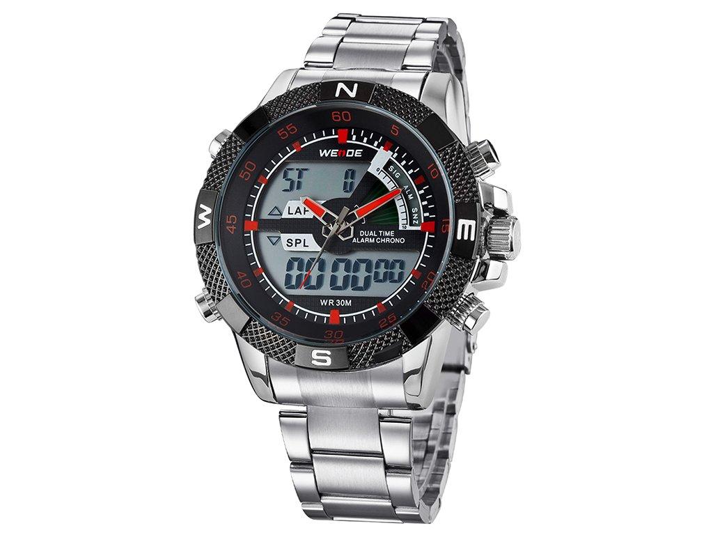 sportovní pánské hodinky weide s duálním časem velkým ciferníkem wh 1104 4c (5)