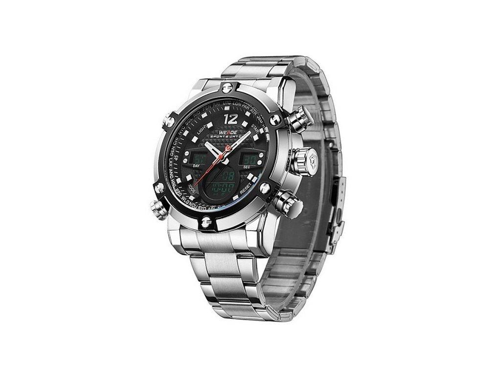 0d7416b240f Pánské hodinky WEIDE 5205 stříbrné + 100% skladem + doprava zdarma