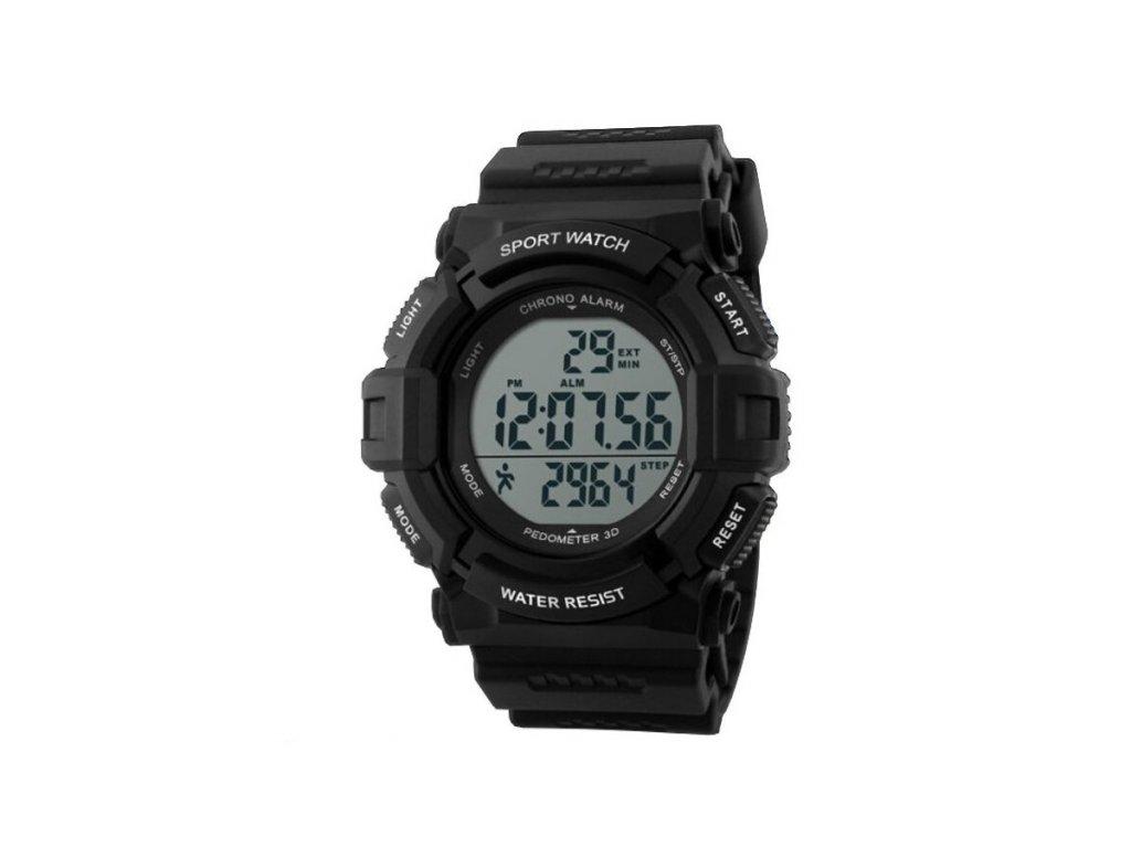 Sportovní hodinky GTUP 1001 černé s krokoměrem  + 100% skladem + doprava zdarma po ČR