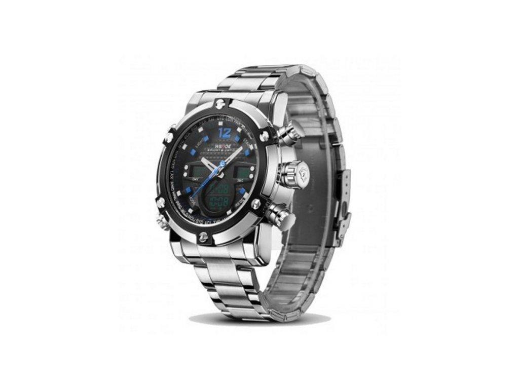 873d2d4c5 Pánské hodinky WEIDE 5205 modré + 100% skladem + náramek zdarma