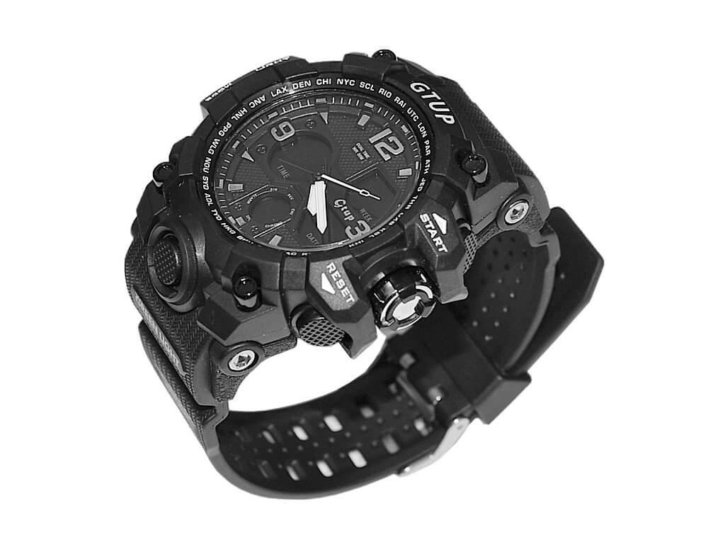 ... Sportovní hodinky GTUP 1050 Shock resist černé s duálním časem + 100%  skladem ... 562e5ac3ca