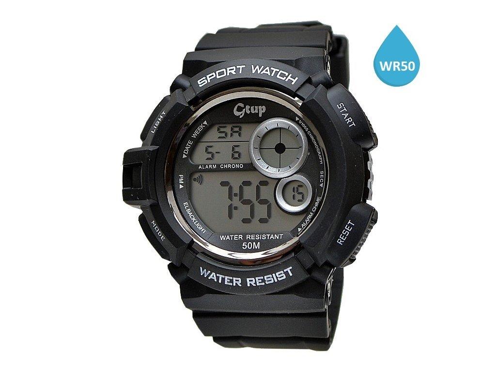 Sportovní hodinky GTUP 1070 černé 8f6fa7e3e10