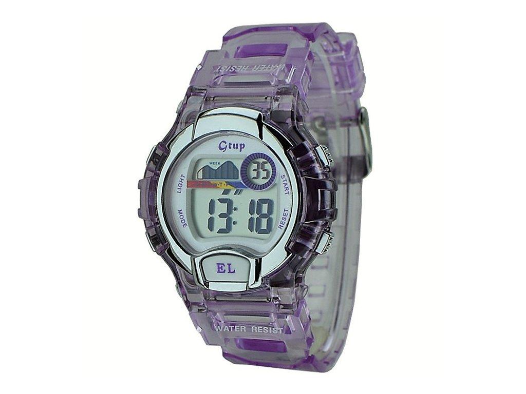 Dětské sportovní hodinky GTUP 1090 fialové  d9853ea245