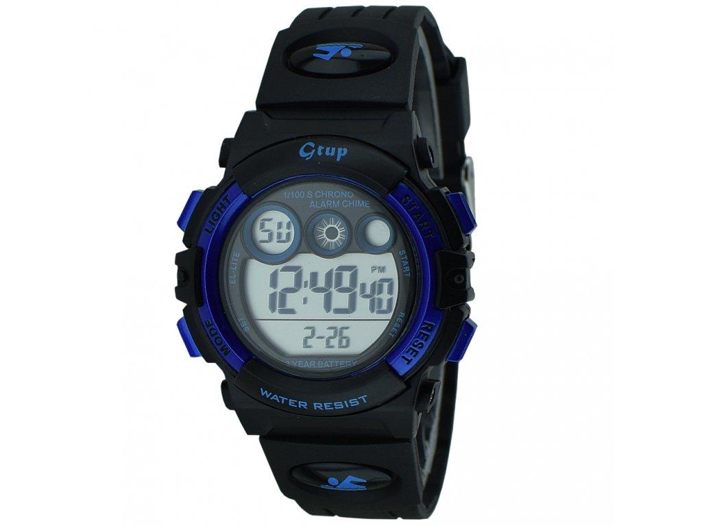 detske hodinky digitalni gtup 1110 černé